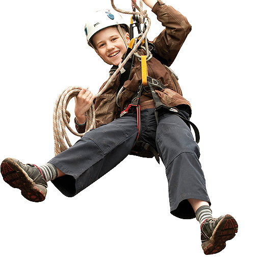Cub Scout Enjoying Adventure Activities