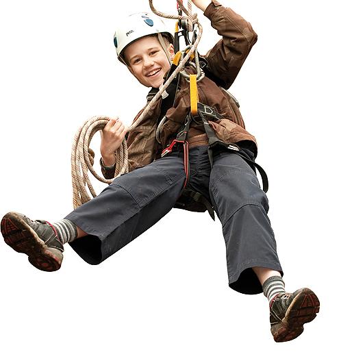Cub Scout Enjoying Adventure Activities