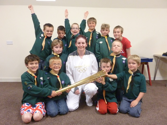 St Stephens Cubs with the Olympic Torch